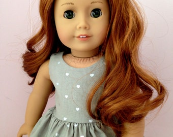 American Girl Clothes Gray and Silver Dress