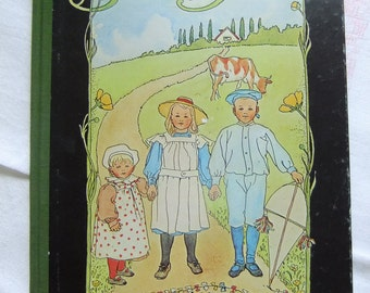 Vintage Swedish Childrens book Barnen på Solbacka - Elsa Beskow - 1975