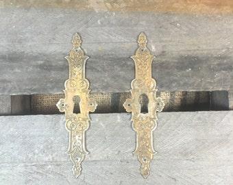 Par of Brass Keyhole Covers
