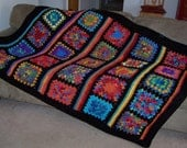 Bright Morning Granny Square Afghan