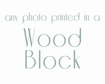 Wood Photo Block, ready to hang art, wood block print, wood block art, nursery art, nursery decor, nature photography, wall art, large art
