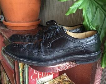 Vintage wingtip mens shoes size 9 A