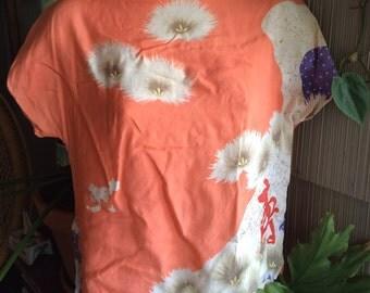 Vintage shirt boat neck coral size medium M