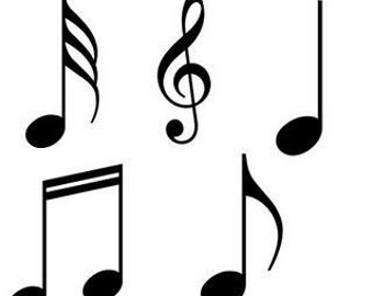 Music Notes-SVG-Silhouette and Cricut cutting file