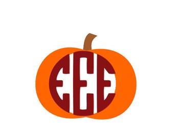 Monogram Pumpkin SVG for Silhouette and Cricut