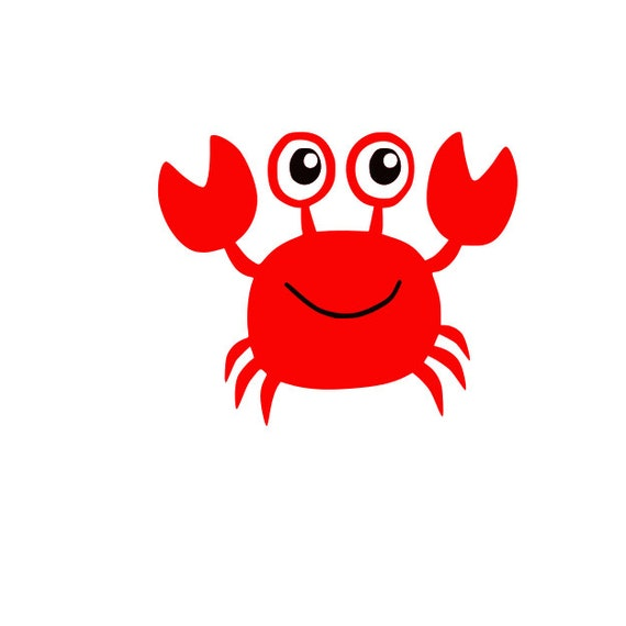 Cute Crab Svg Cutting File For Cricut And Silhouette Eps Dxf