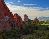 Towering Spires Jagged Rock Formations Colorado Garden of the Gods Travel, Fine Art Photography matted & signed 7x10 Original Photograph
