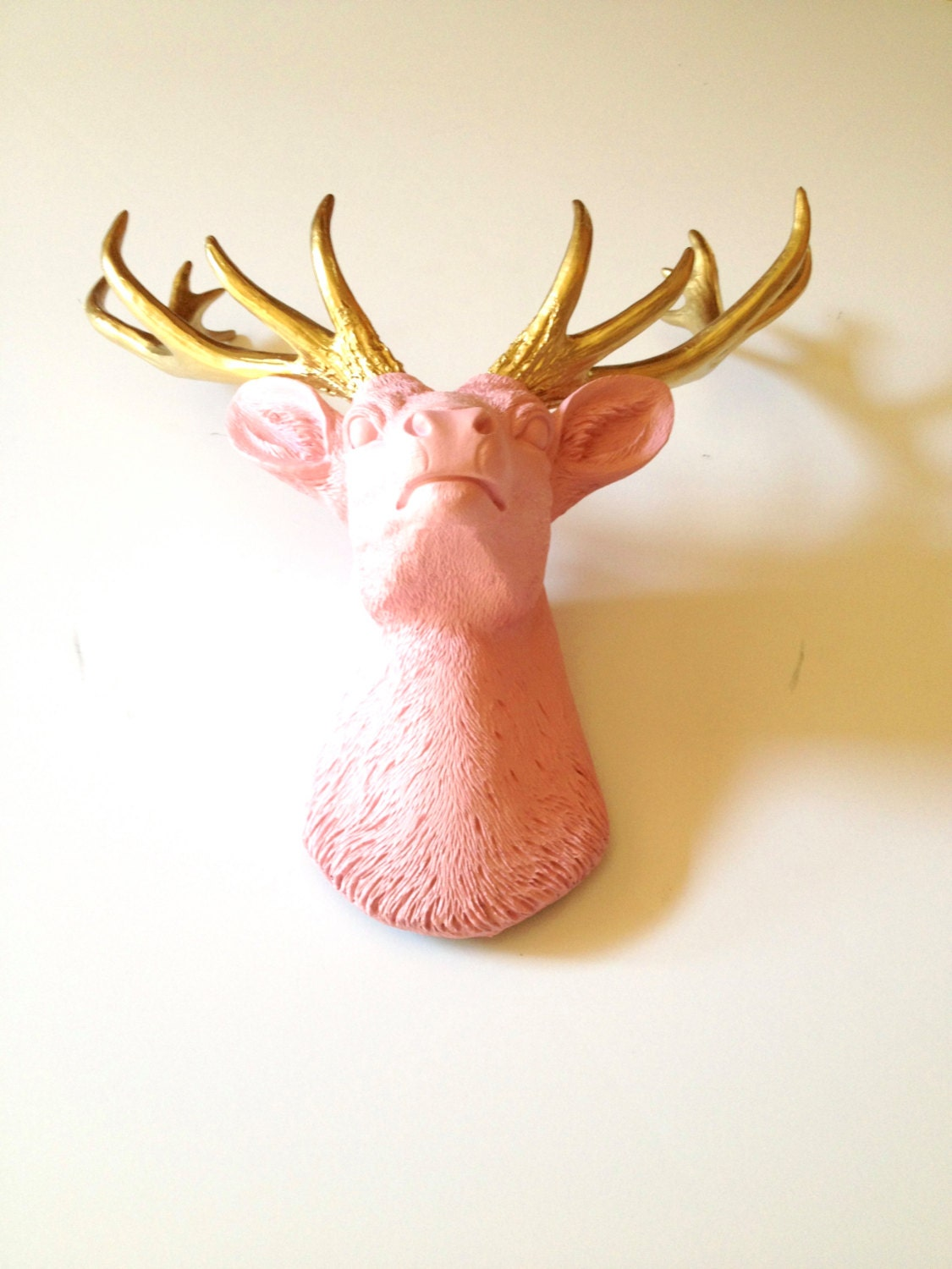 deer covered products large favors stag mache wall head mount decor paper leather