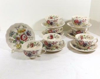 JOHNSON BROS. Cup and Saucer SHERATON Pattern