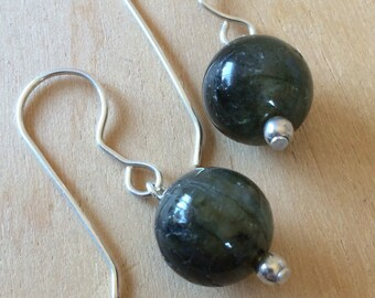 Labadorite Earrings on Sterling Silver All Handmade
