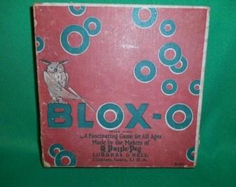 One (1), Circa 1923 BLOX-O Board Game.