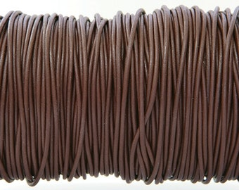 Chocolate Brown Color Greek Leather Cord 1.9 mm Diameter (Length: 5 Yards)