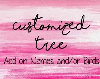 Add Names to Your Fingerprint Tree- Custom Fingerprint Tree- Customized Fingerprint Tree-Tree Add-0n