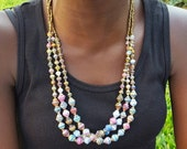 The Amaris // Multi-Strand Paper Bead Necklace // Made in Uganda