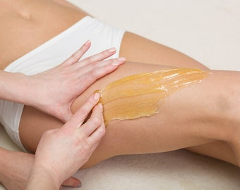 Body Sugaring Paste 8 oz Unscented. Sugar Wax. Hair Removal New Improved Recipe