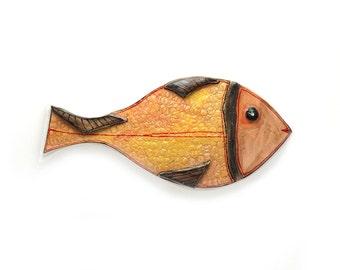 Fish ceramic wall art, Ceramic fish, Fish art , Fish home decor, Fish art