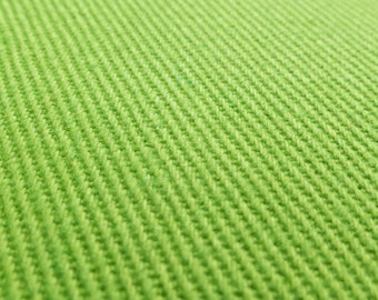 ℳ Heavy Lime green cotton Twill 40 inch FC12455 Fabric by the Yard, 1 Yard