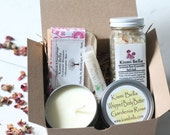 Spa Party Gift,Gift For Mom, Gift For Her,Bridesmaids Gifts Spa Basket,Pedicure set,Sore Muscles,Soy Candle Kit  Body Butter, Party Favors