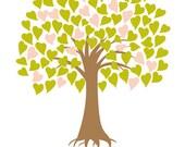 DIY Printable Wedding Tree Guest Book - Wedding registry - A3 - 100 Signatures - PDF Poster