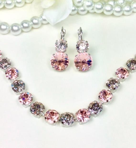 Swarovski Crystal 8.5mm Bracelet - The New Neutrals - Vintage Rose & Rose Patina- Gorgeous! -Designer Inspired - FREE SHIPPING