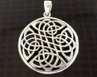 Sterling Silver Celtic Knotwork Pendant