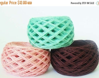 20%SALE 4ply  linen yarn linen thread  linen natural yarn