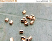 Memorial Day Sale pkg of 100 - Seamless 2x2mm Solid Copper Tube Crimp Beads