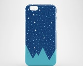 Stars and Peaks phone case, pattern case, iPhone 7, iPhone SE, iPhone 6S, iPhone 6, iPhone 5S, iPhone 5, illustrated phone case