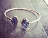 Princess Druzy Cuff Bracelet