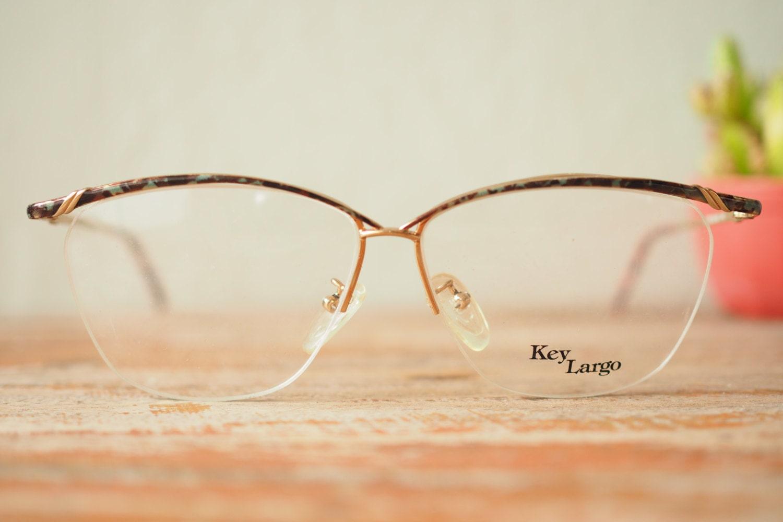 Vintage Eyeglass Frames New Old Stock : Vintage Frame Eyeglasses 1980s New Old Stock By Key