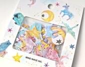 Animal Stickers - Constellation Flake Stickers - Japanese Sticker Pack - Pastel Stickers - Mind Wave Sticker Pack
