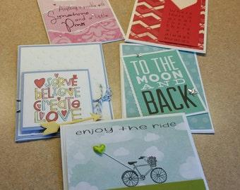 Set of friendship cards