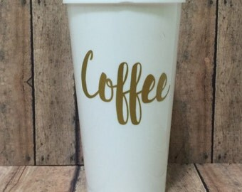 Coffee travel cup, travel coffee mug, to go cup, reusable cup, travel cup, personalized cup, insulated plastic tumbler, travel tea cup