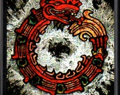 Gilded Aztec Dragon Reproduction ~ Magnet