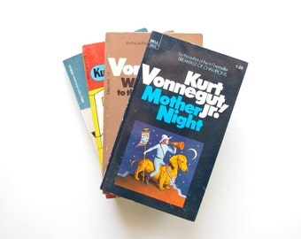 Kurt Vonnegut - 4 Vonnegut Books - Mother Night, Slaughterhouse 5, Welcome to the Monkey House, Breakfast of Champions