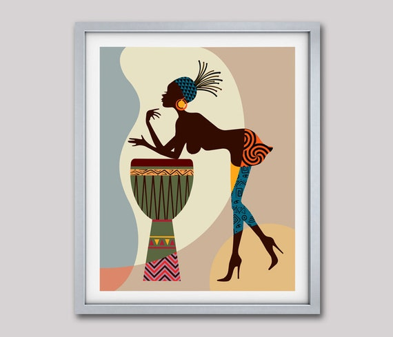 African American Art, African wall Art Decor, African Woman, African Art  painting,
