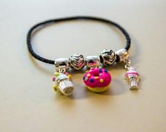 Doughnut ice cream kawaii bracelet