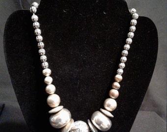 Beautiful Steel Bead Necklace