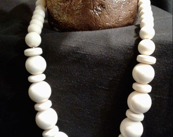 Beautiful Wood Beaded Necklace