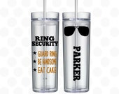 ring bearer gift - Ring security - ring bearer gift ideas for boys - Ring bearer cup - Ring bearer gift ideas -  16oz skinny tumblers