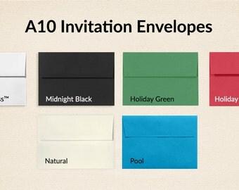 A10 Invitation Envelopes w/Peel & Press (6 x 9 1/2) - Pick A Color (50 Qty.)