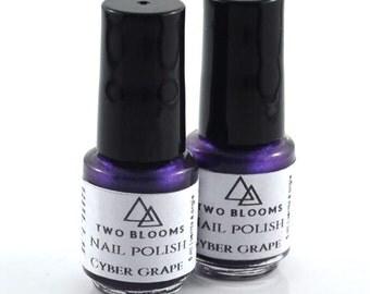 Non Toxic Nail Polish, Blue or Purple Nail Lacquer, Victoria BC, Vancouver Island