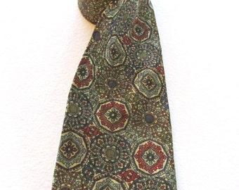 Vintage Hubert Italian silk tie