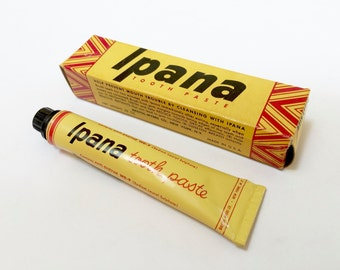VINTAGE IPANA TOOTHPASTE - Unused Tube and Box - Sample Size - Guest Size - Advertising Health and Beauty
