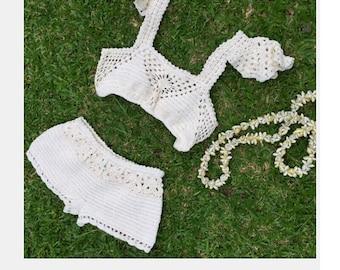 Crochet Bikini & Shorts.