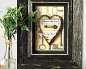 Anniversary Gift for Men - Key To My Heart - Rustic Decor