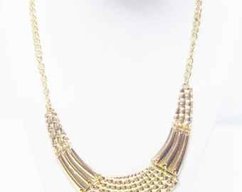 Gold Plated Statement Necklace