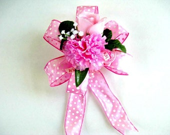 Baby girl shower decoration, Pink baby gift wrap bow, It's A Girl gift bow, Gift bow for new moms, Gift wrap bow, Bow for baby gifts (BG42)