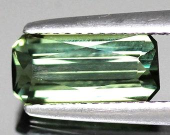 100% Natural 1.95 Ct. Faceted Loose Natural Green Tourmaline Octagon