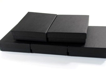50 Lot -5.5x3.5 ~Black Matte of Presentation Display Gift Boxes  Jewelers Cotton Lined  Jewelry Boxes